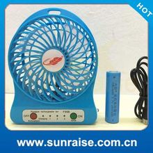 Strong wind cheap price table fan with light