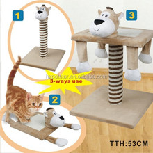Whole sale Cat Scratch tree with animal shape head