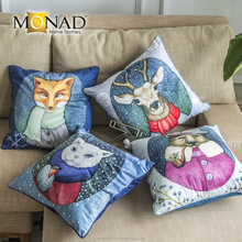 Multi-color sofa seat digital custom printing 18 inch latest design fabric cushion cover colorful