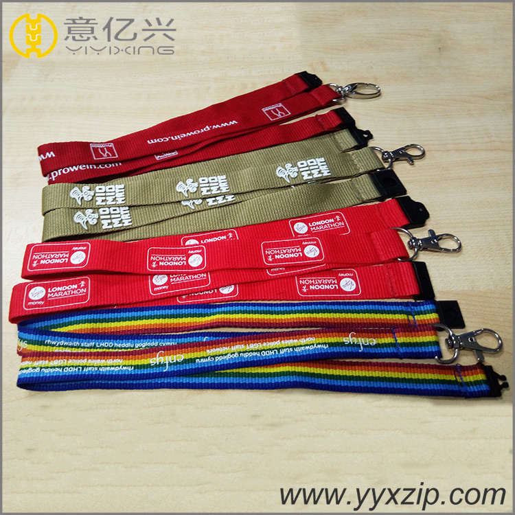 New Style Silk Printing Promational Wrist Lanyard Eco-friendly Polyester Lanyard for Teenagers