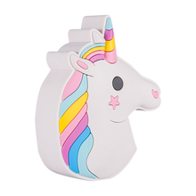 Shenzhen Wholesale New Design OEM Portable PVC Soft Silicone Cute Cartoon Unicorn Power Bank For Promotion
