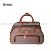 China hot sales cheap price PU material trolley duffle bag