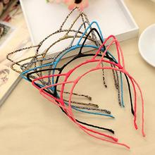 Fashion Halloween 12 Colors Hair Accessories Cute Ear Hairband Small Cat <strong>Headband</strong> for Women Hello Kitty Styling Headwear