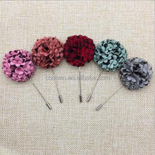 coolwin handmade brooch flower for wedding ,cheaper factory flower brooch pin for man