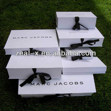 New fashion customized folding jewelry box,Gift Box ,Ribbon Folding white box