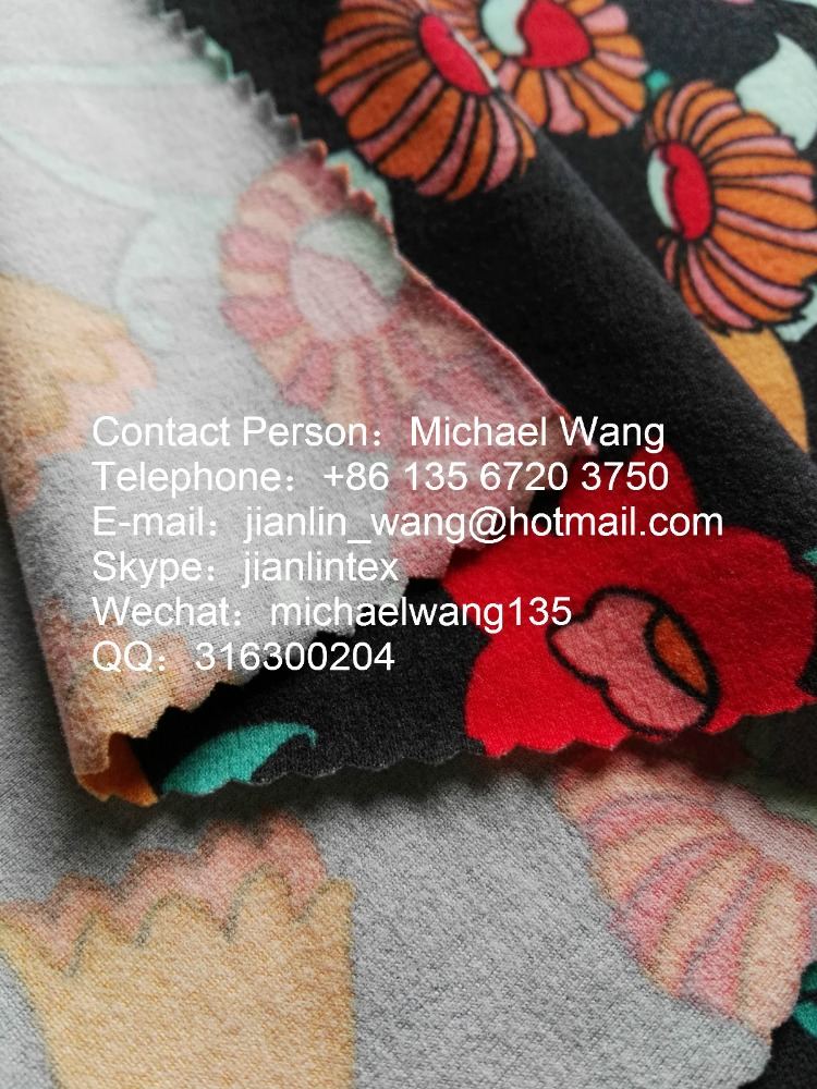 Jishengxiang Knit Poly DTY Brush 100 Polyester Thick Fleece Fabric For Winter Garment