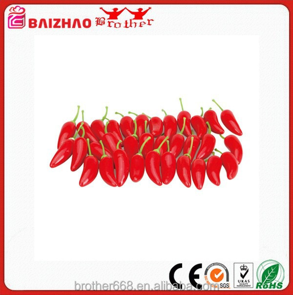 Artificial Lifelike Red Pepper Fake Hot Chili Vegetable Kitchen Decor