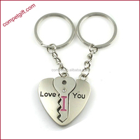 Metal Jewelries Unisex Lovers Zinc Alloy Hanging Gifts Key & Heart Key Chains