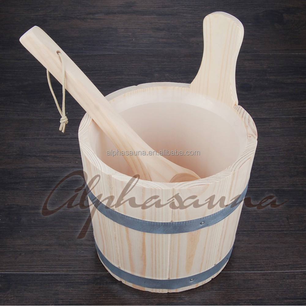 New Product Wsale Price and High Quality 3L Sauna Bucket And Ladle China supplier