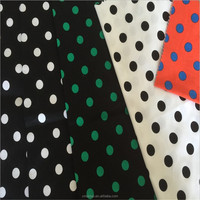 High quality printed polka dot stretch cotton twill fabric