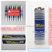 METAL JACKET AA R06 UM3 dry battery TUDOR brand 1.5v