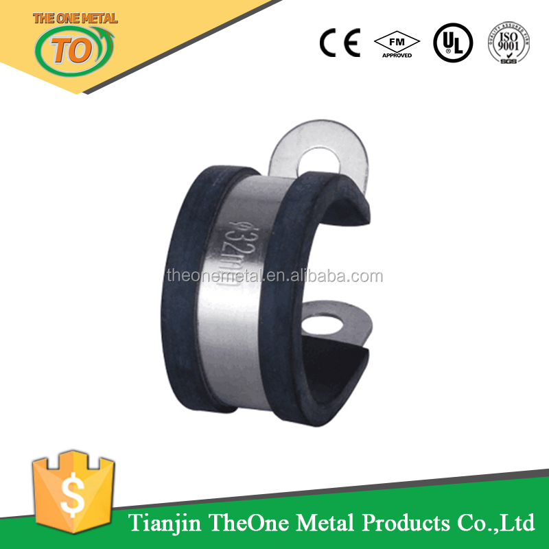 cable pulling clamp p type cushion clamp