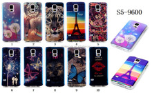 New products High Quality Printed TPU back Case for Samsung S5 i9600, for Samsung Galaxy S5 case cover
