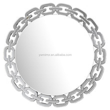 HWM10722 chain surrounded modern round wall mirror for home decorative