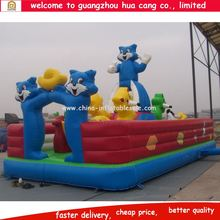 High quality new style inflatable jumper fun city, Cartoon painted inflatable bouncer, inflatable jumping playground