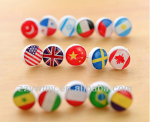 cute small national flag map pins / lovely office pins
