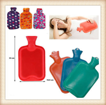 Hot Water Bottle 2LTR PRIMA Large Rubber Warmer Fleece Cover & Quality Bottles