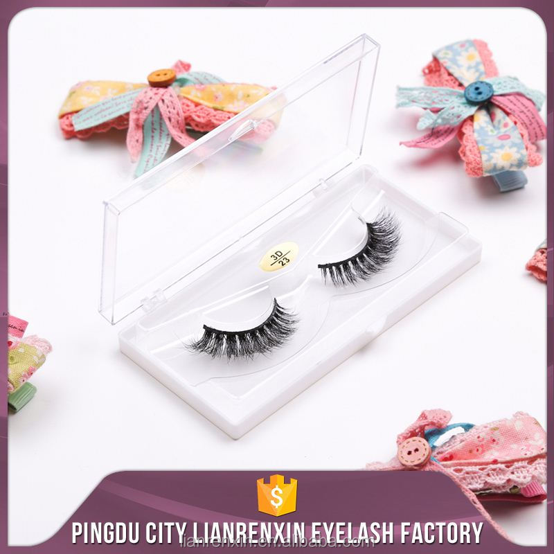 Lianrenxin Fake Eye Lashes Free Samples Thick Mink Fake Eyelashes