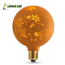 New Pattern G125 1.4W LED Light Globe Bulb Warm White 2700K E26 for Holiday Party Gardem