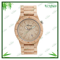 original design high-end custom-made natural color vogue couple wooden hand watch