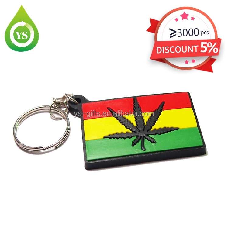 Customized promotion silicone country flag key ring 3d PVC Rubber keychain