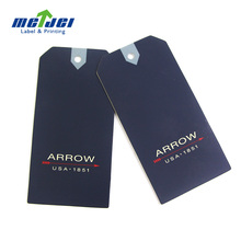 High quality price touch paper swing tag design. Tshirt hang tag printing with your logo
