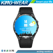 2016 CE ROHS KingWear KW88 1.39 inch Android 5.1 3g Wifi Smart Watch Phone Android Waterproof ip67