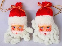 Alibaba hot sale christmas tree dcoration Santa snow head doll accessories christmas snowman