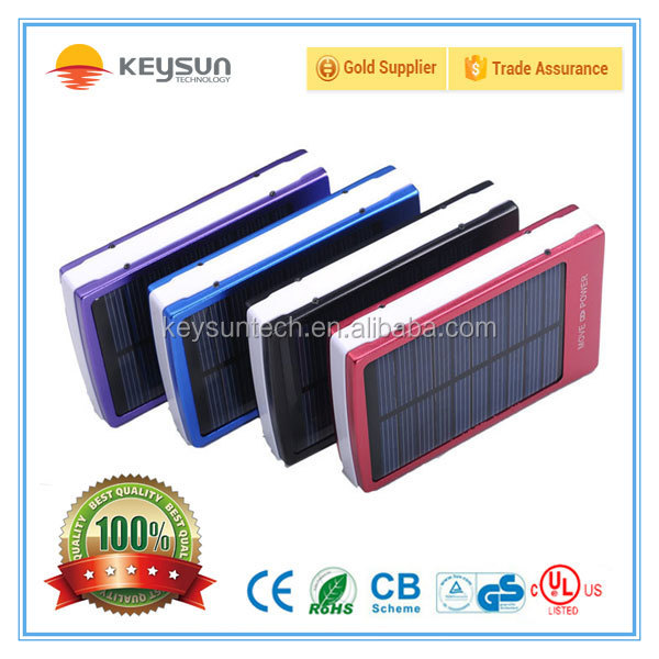 2015 bateria external battery 10000mah solar charger 10000 mah solar power bank for iPhone for HTC for PSP