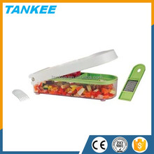 Manual Onion Chopper, Vegetable Slicer, Fruit And Cheese Cutter Container with Storage Lid