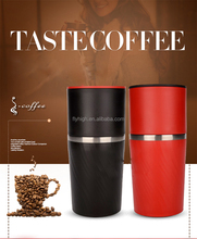 All in One Stainless Steel Manual Coffee Grinder Coffee Machine espresso Protable Coffee Maker