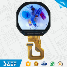 Circle shape lcd 1.22 inch round lcd display with capacitive touch screen
