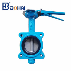 Wafer type ductile iron centric butterfly valve