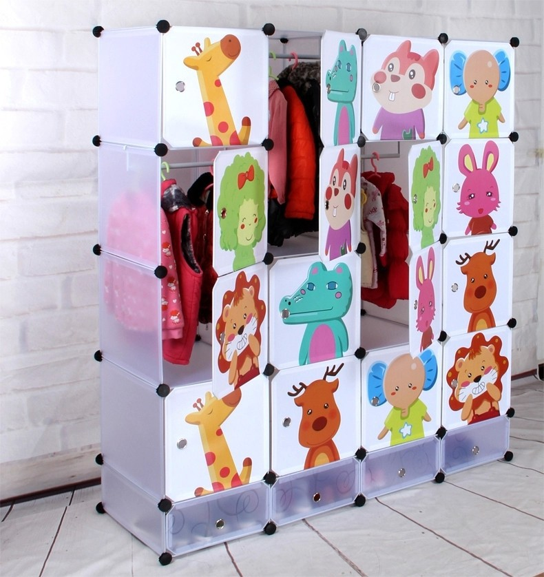 DIY cheap clothes cabinet/ children clothes cabinet/ baby plastic cabinet