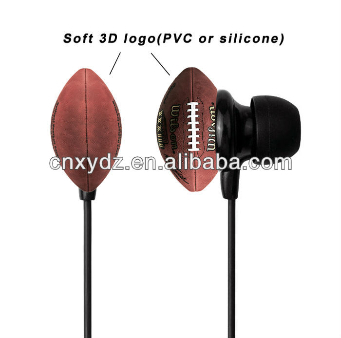 2013 hot sale silicone 3d earphone for mobile/laptop/MP3/MP4