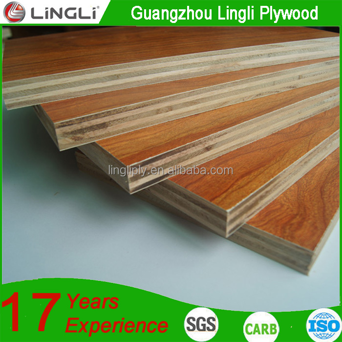Double-sided decoration E0 laminated embossed fancy plywood/ply wood