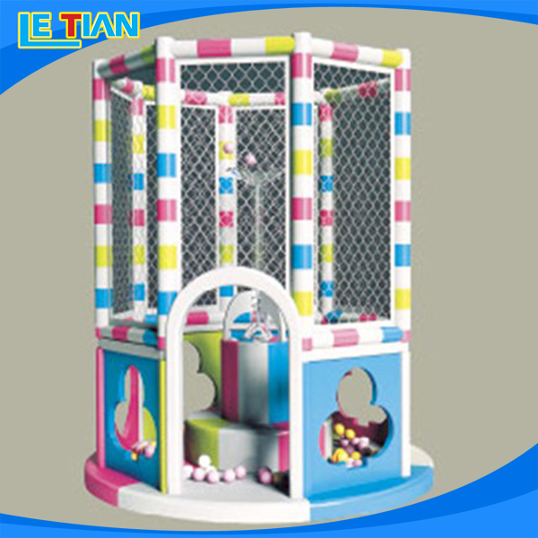 New design naughty castle light slide small indoor playground