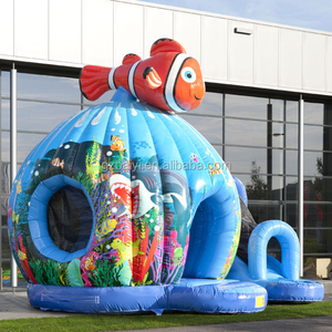 Fun playground equipment inflatable castle for kids,inflatable bouncer with slide