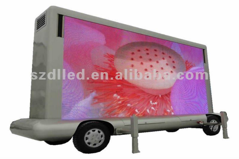 latest technology good look outdoor mobile trailer advertise led display
