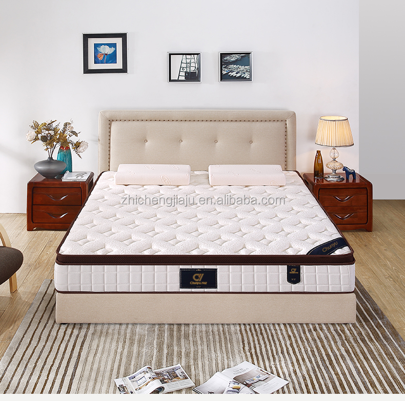 Hot selling on amazon low cost 3D mesh knitted fabric foam removable king size pillow top queen mattress - Jozy Mattress   Jozy.net
