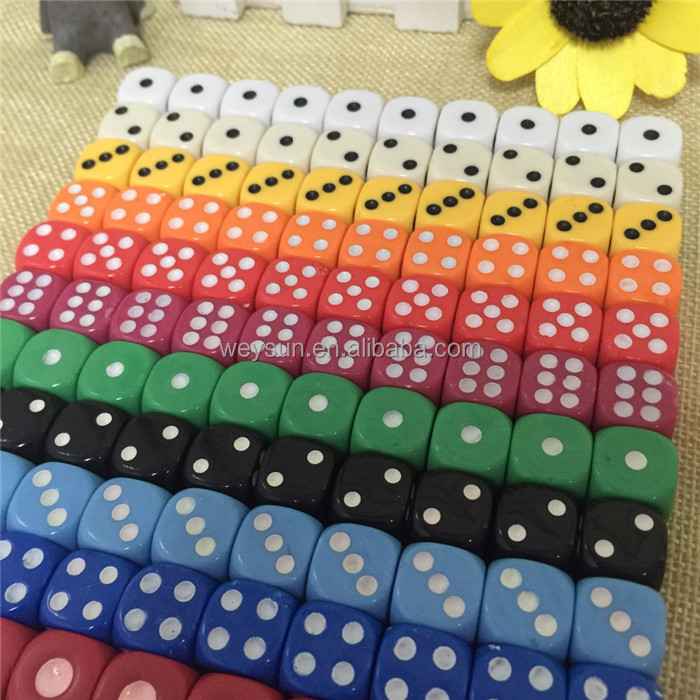 Chips dice for Gambling Game Dice & Blue,Green,Yellow,Black,Orange colorful colors Promotional Gifts RPG DICE SET