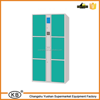 6 Doors electronic barcode steel locker cabinet