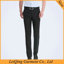 wholesale black business casual non iron pants mens polyester spandex dress pants