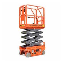 Electro-hydraulic DC self-propelled scissor lift/Mobile hydraulic lifting platform/ DC 24V Powered rise elevator