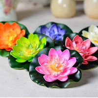 2015 Wholesale colorful artificial plastic flowers for wedding decoration plants Water lily lotus