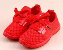 Autumn children Air Mesh Fabric Shoes Kids Girls Boys Soft Sole Breathable Casual sport shoes
