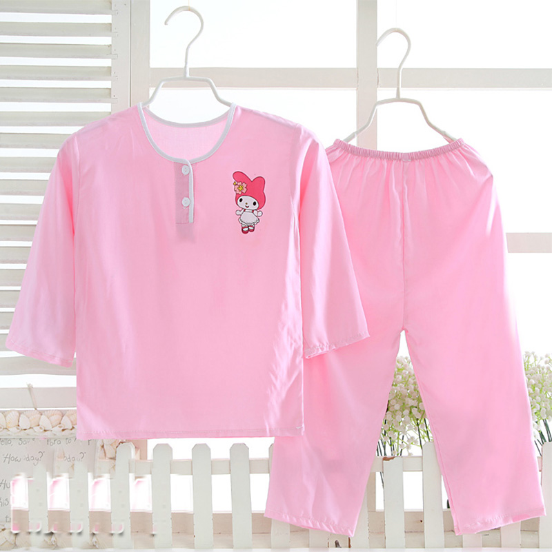 kids 65% polyester 35% cotton breathable comfortable pyjamas childrens sleepwear clothing sets