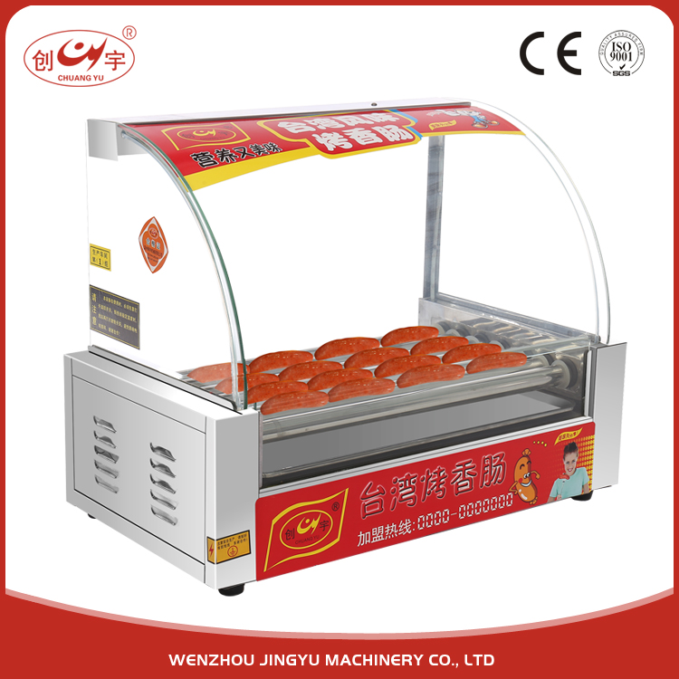 Chuangyu Products To Sell Cheap 7 Roller Easy Operation Hot Dog Trailer For Hot Dog Sausage Machine