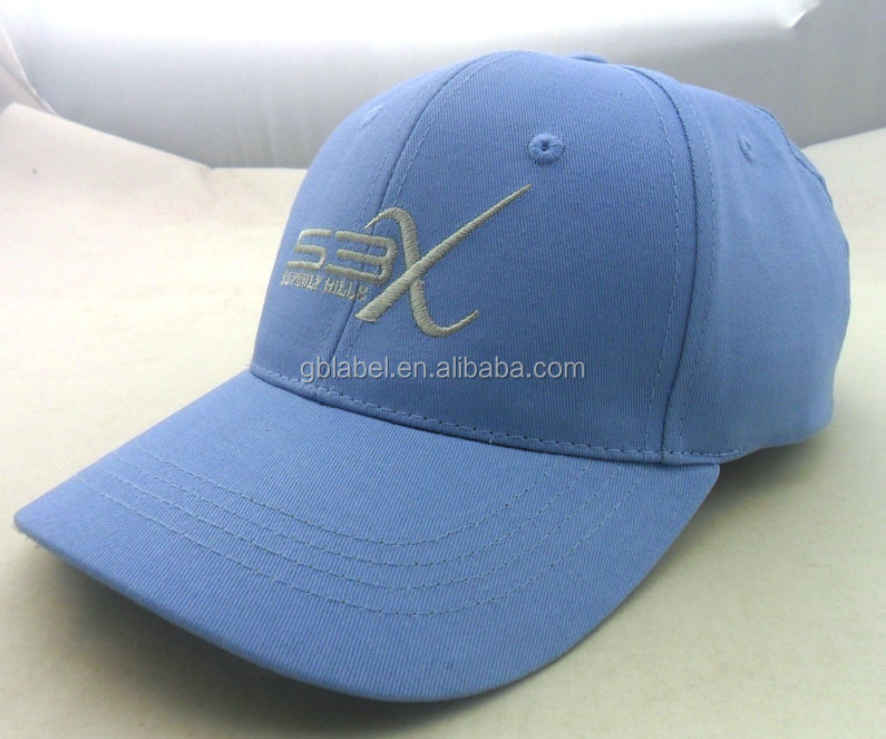 cheap wholesale blue embroidery polyester baseball cap accessories
