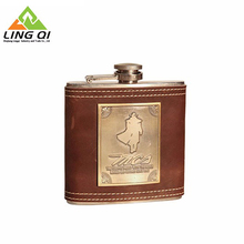Attractive Price New Type 1Oz Customized Glass Lined Painting Stainless Steel Metal Hip Flasks